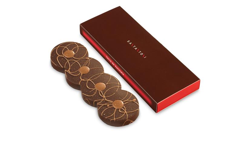Caixa torrons de xocolata